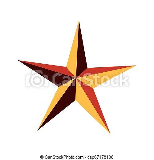 stern, gold, auszeichnung - csp67178106