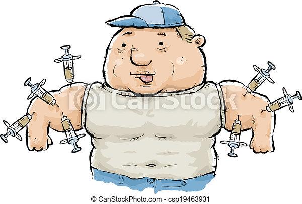 Steroid, mißbrauch. Seine, steroide, wesen, arms