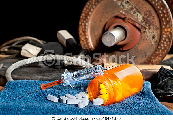 Steroids and sports - csp10471370