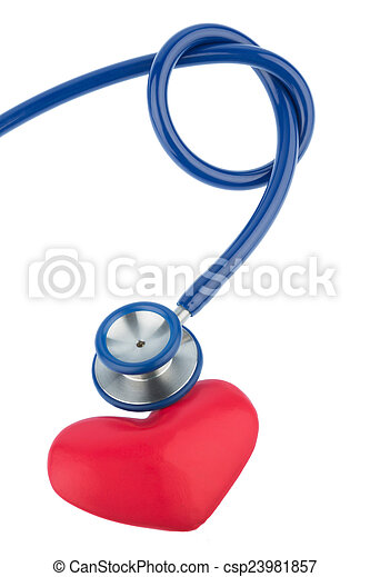 stethoscope and a heart - csp23981857