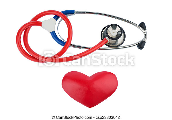 stethoscope and a heart - csp23303042