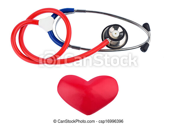 stethoscope and a heart - csp16996396