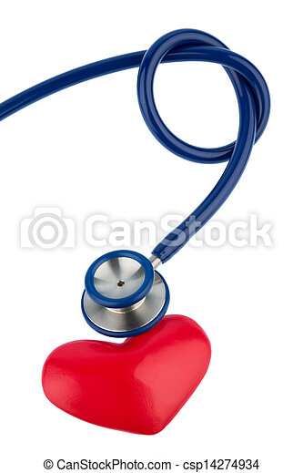 stethoscope and a heart - csp14274934