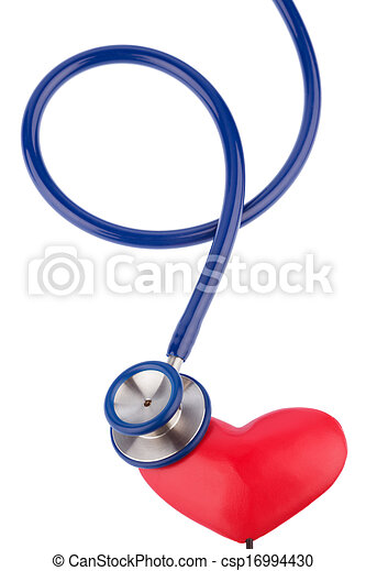 stethoscope and a heart - csp16994430