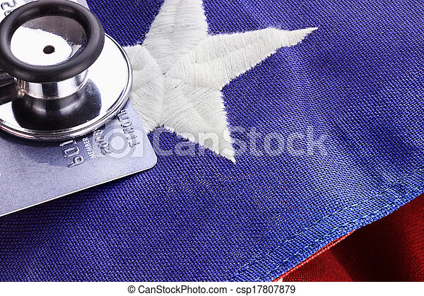 Stethoscope and American Flag - csp17807879