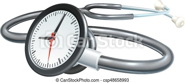stethoscope clock concept a stethoscope clock time or waiting list