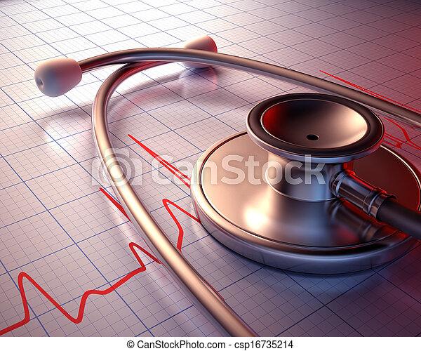 Stethoscope Close - csp16735214