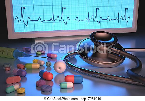 Stethoscope Drugs - csp17261949