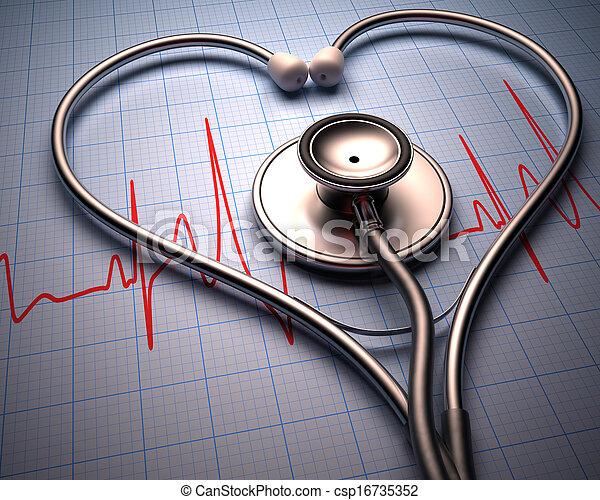 Stethoscope Heart Shape - csp16735352