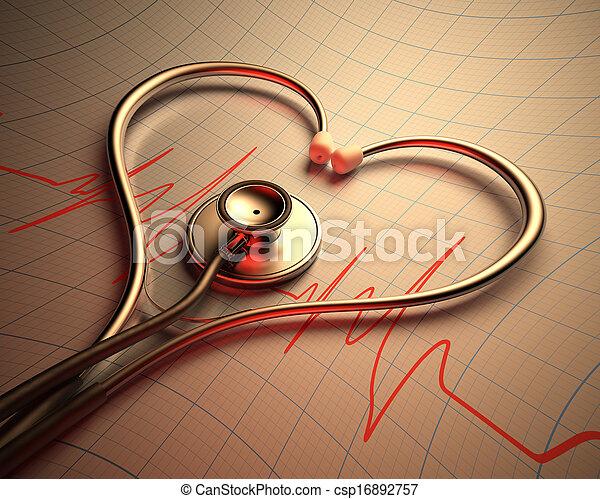 Stethoscope Heart Shape - csp16892757