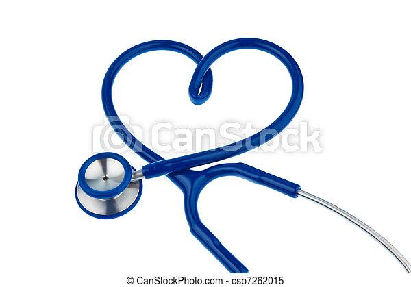 Stethoscope, heart-shaped - csp7262015