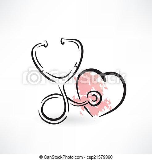 stethoscope icon - csp21579360