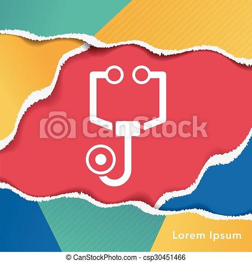 Stethoscope icon - csp30451466