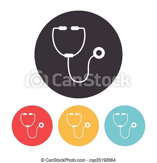 Stethoscope icon - csp35192664