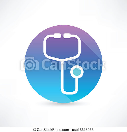 stethoscope icon - csp18613058