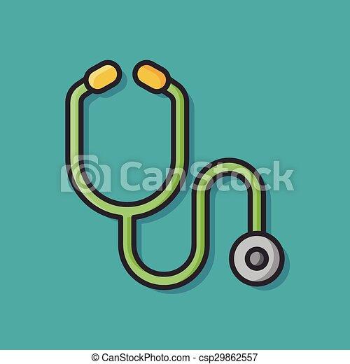 Stethoscope icon - csp29862557