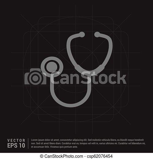 stethoscope Icon - csp62076454