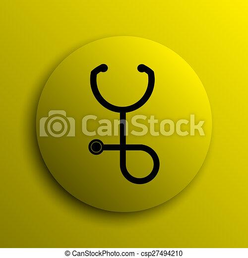 Stethoscope icon - csp27494210