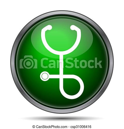 Stethoscope icon - csp31006416