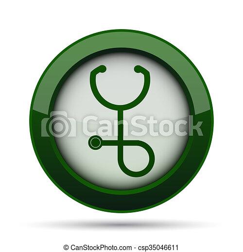 Stethoscope icon - csp35046611
