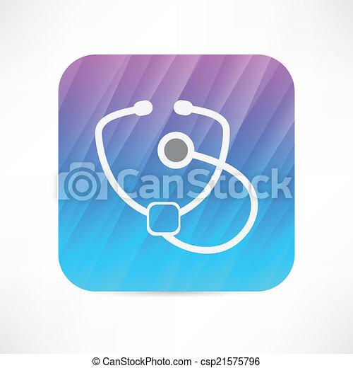 stethoscope icon - csp21575796