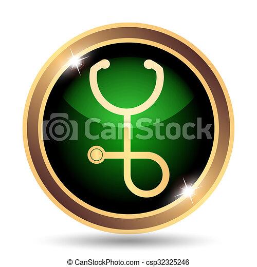 Stethoscope icon - csp32325246