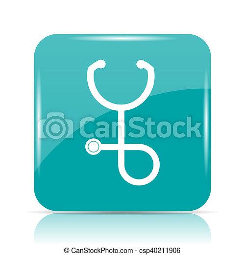 Stethoscope icon - csp40211906
