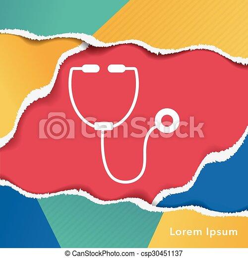 Stethoscope icon - csp30451137