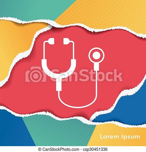 Stethoscope icon - csp30451336