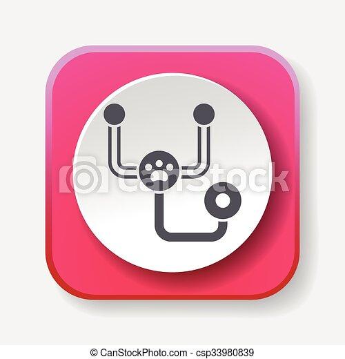 Stethoscope icon - csp33980839
