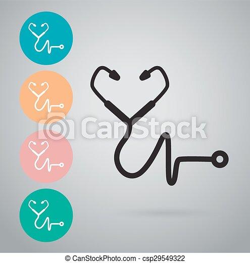 Stethoscope icon - csp29549322