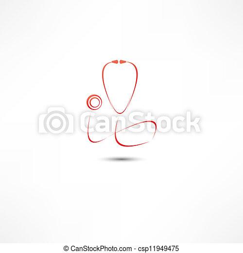 Stethoscope icon - csp11949475
