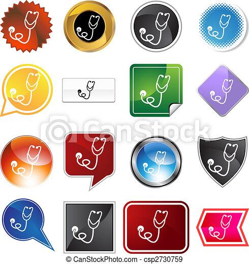 Stethoscope Icon Set - csp2730759