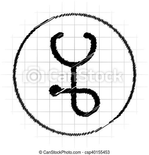 Stethoscope icon - csp40155453