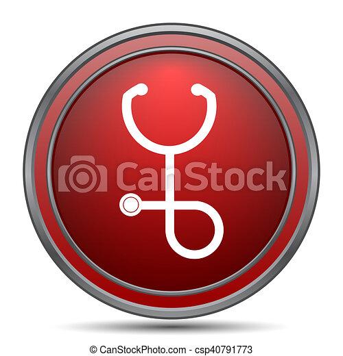 Stethoscope icon - csp40791773