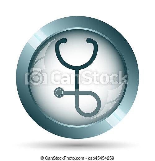 Stethoscope icon - csp45454259