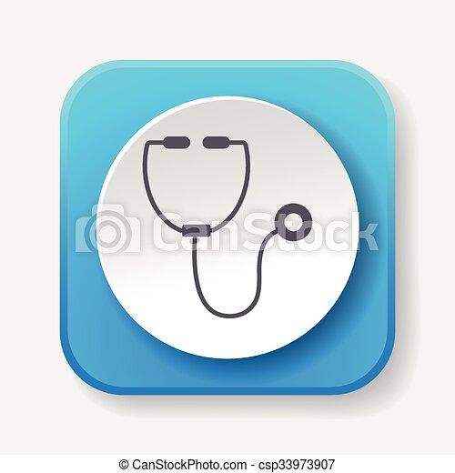 Stethoscope icon - csp33973907