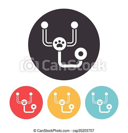 Stethoscope icon - csp35203707
