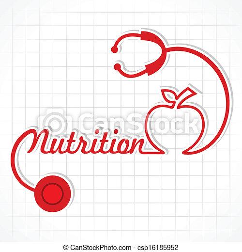 Stethoscope make nutrition word - csp16185952