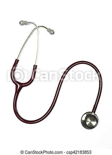 Stethoscope on the white background. - csp42183853