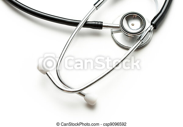 Stethoscope on the white background - csp9096592
