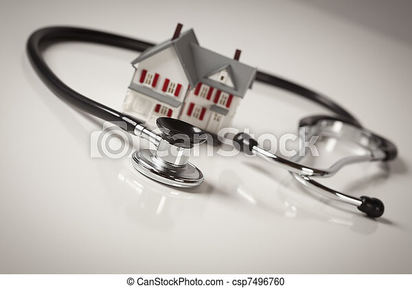 Stethoscope with Small Model Home - csp7496760