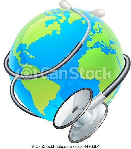 stethoscope world health day earth globe concept conceptual clip rh canstockphoto com clip art global clip art globe earth