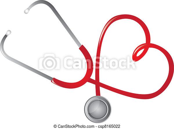 Rotes Stethoskop - csp8165022
