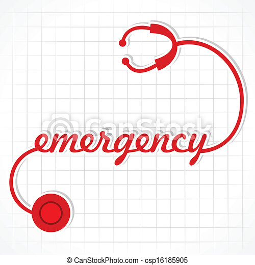 stetoscopio, fare, parola, emergenza - csp16185905