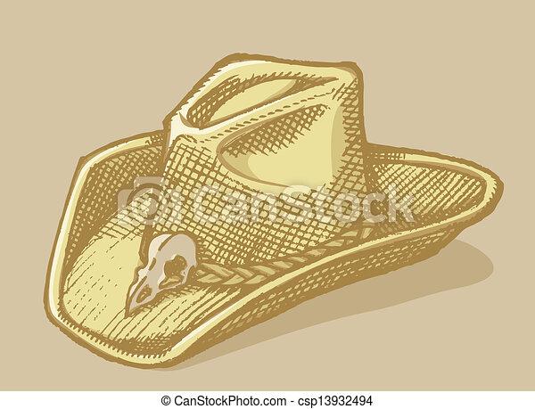 Stetson hat sketch - csp13932494