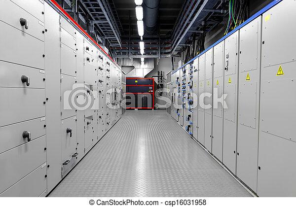 Kontrollraum eines Kraftwerks - csp16031958