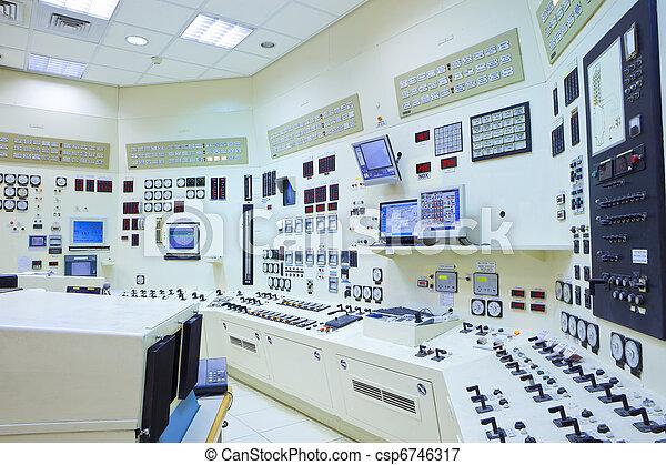 steuerung, station, zimmer, macht - csp6746317