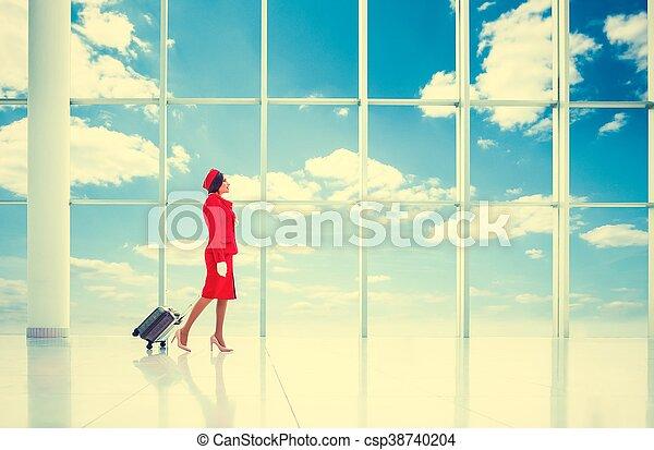 Stewardess - csp38740204