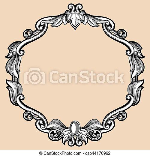 Stich Antikes Stil Muster Rahmen Retro Umrandungen Stich